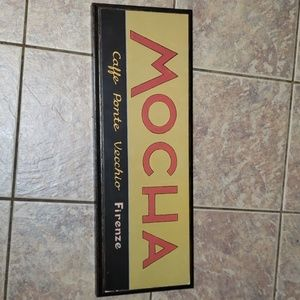 """""""MOCHA"""" wall picture 9x25 inches"""